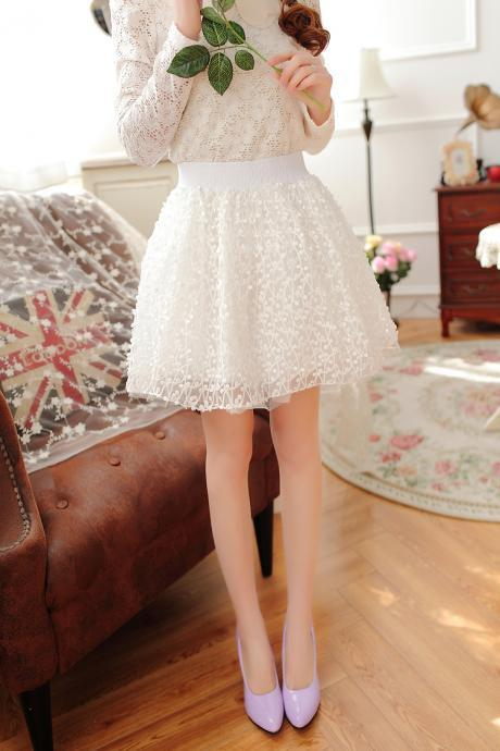 High Quality White Skirts, Women Skirts, Sweet Skirts, Women Skirts 2015