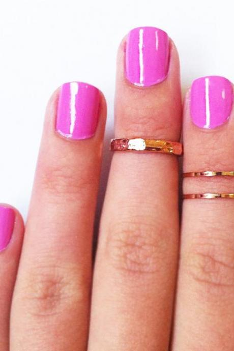 Z Combo Knuckle Rings - Rose Gold