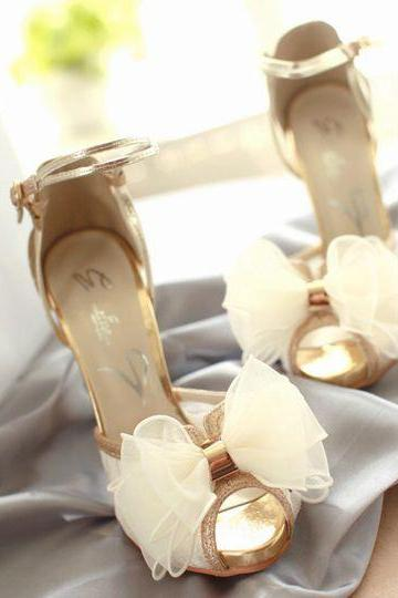 bud silk fish head sandals wedding shoes 3178FX