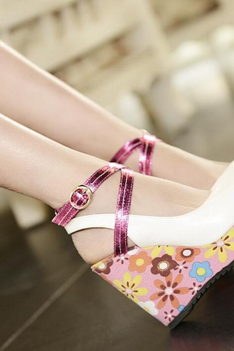 Heavy-bottomed high-heeled shoes 9146QS