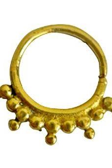 brass septum, Nose Piercing, Tribal Brass Septum Ring, Tribal Septum, 1.2mm Septum For Pierced Nose, Nose Ring