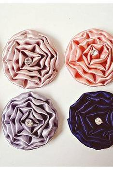 Satin rolled flowers