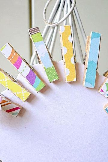 Mini Wooden clothes pins