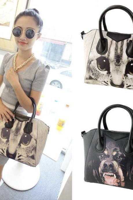 Animal Print Women Handbag Ladies PU Leather Purse Tote Shoulder Messenger Bag