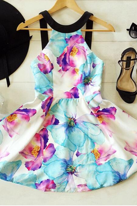 Fashion Strapless Print Dress #AD41408UY