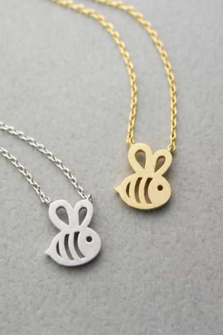 Cute Honeybee necklace in 3 colors, N0254K