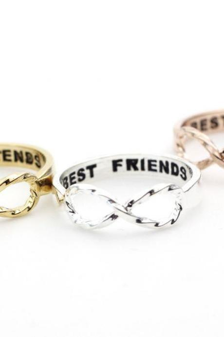 Best Friends Infinity Ring - Gold, Silver, Rose Gold