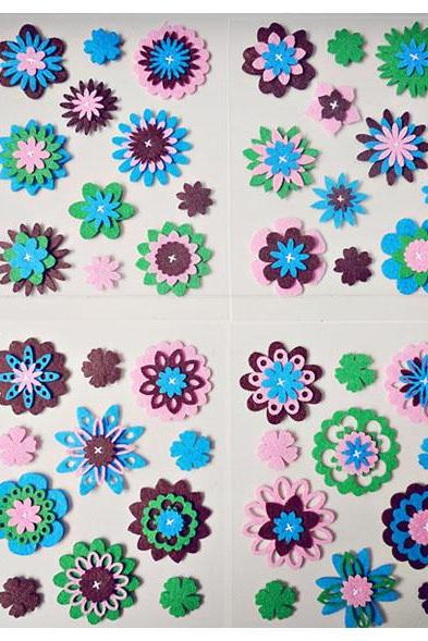 Felt flower embellishment set