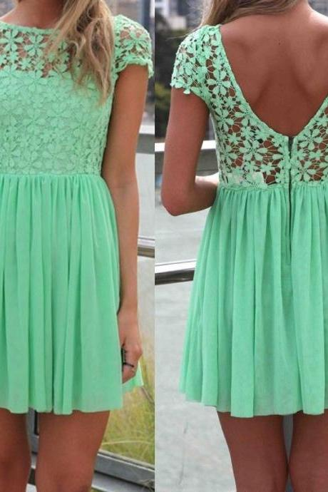 Mint Green Women Summer Bandage Bodycon Lace Evening Sexy Party Cocktail MINI Dress DF05