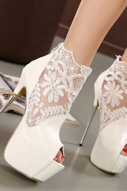 2015 high heel sandals cool boots sexy fashion lace flowers