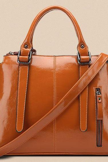 Leather High-end Temperament Type Female Handbags