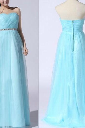 2015 fashion strapless tulle knee length prom Dresses evening dress Bridesmaid dresses custom made L92