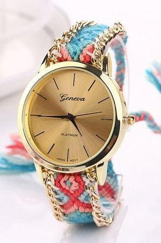 Party teen Cloth Band Unisex Festival Watch