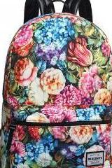 New Fashion Colorful Laptop Bag Casual Canvas Backpack