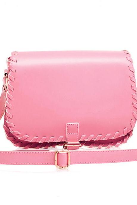 Candy Color Knit Cross Body Shoulder Bag Satchel