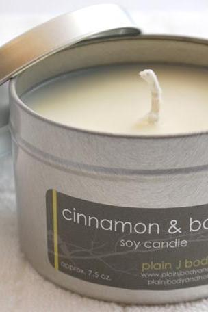 Cinnamon & Balsam Soy Candle Tin 8 oz.