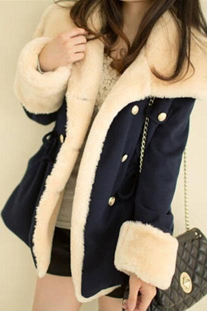 Breasted Wool Coat Winter Jacket VG41612MN