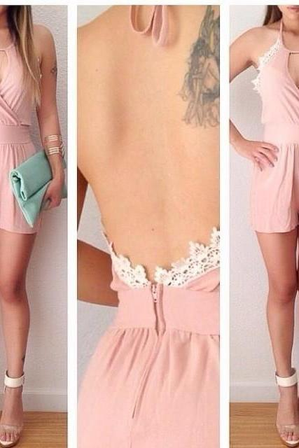2015 Women's Summer Lace Jumpsuit Shorts Sexy Women Dresses