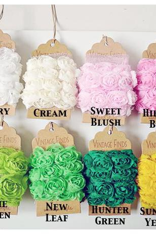 Choose all 21 colors Chiffon Bloomer rose trim - 20% off