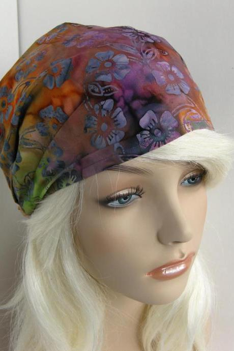 Rainbow Batik Fabric Headband Yoga Hippie Hair Head Wrap Women's Gypsy Bandana