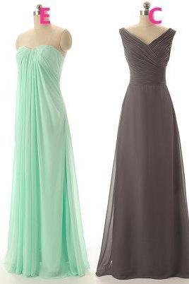 Chiffon Long Prom Dress ,evening Long Dress.bridesmaid dress mint color