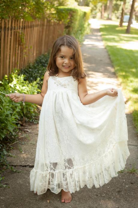 Little girls dress, 2015 lace flower children, flower girl dresses, wedding, baptism dress, ivory, white, girl dress