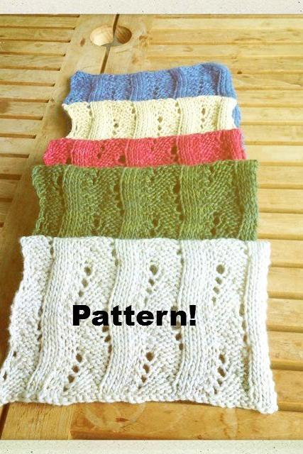 Knitting Scarf Pattern, 5 colors, merino wool, hand dyed - Knitting tutorial PDF