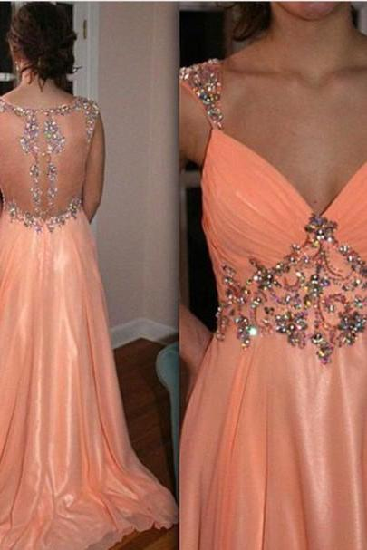 V-neck prom dress, long prom dress, sexy prom dress, 2015 prom dress, off shoulder prom dress, cheap prom dress, BD83