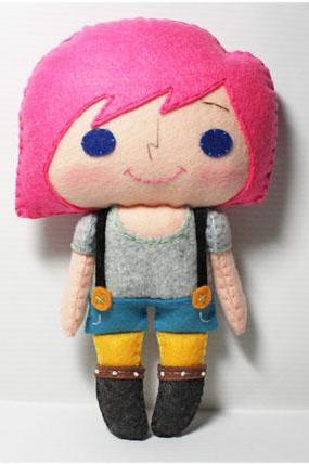 Pinky girl - PDF Doll Pattern