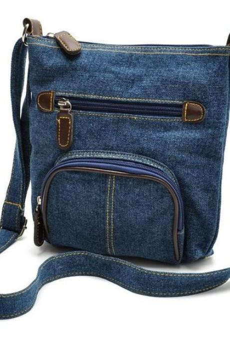 Denim Bags Denim Crossbags Denim Purses Womens Denim Slin Bags Durable Sling Bags