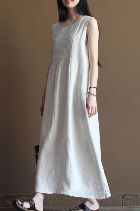 White Maxi Dress White Sleeveless Maxi Dress for Women Summer Spring Dress