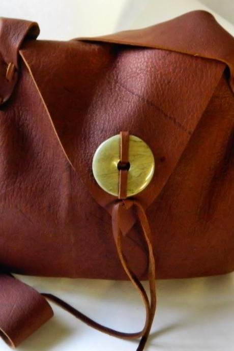 Hand Crafted Red Toned Chocolate Purse