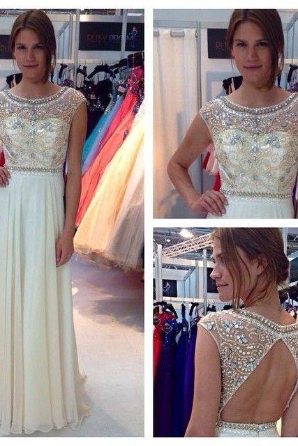 Cap sleeve prom dress, long prom dress, pretty prom dress, junior prom dress, backless prom dress, handmade prom dress, BD112