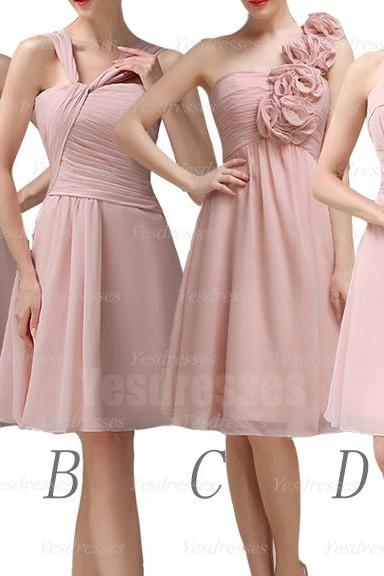 Blush pink bridesmaid dresses, short bridesmaid dresses, mismatched bridesmaid dresses, cheap bridesmaid dresses, bridesmaid dress, PD15025