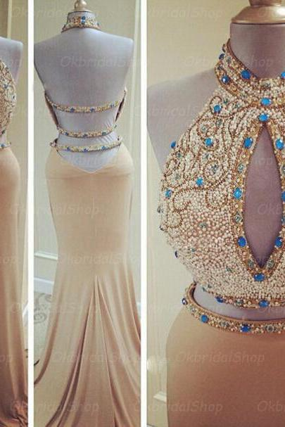 2 piece prom dresses, mermaid prom dress, unique prom dresses, sexy prom dresses, 2015 prom dresses, popular prom dresses, dresses for prom, CM445