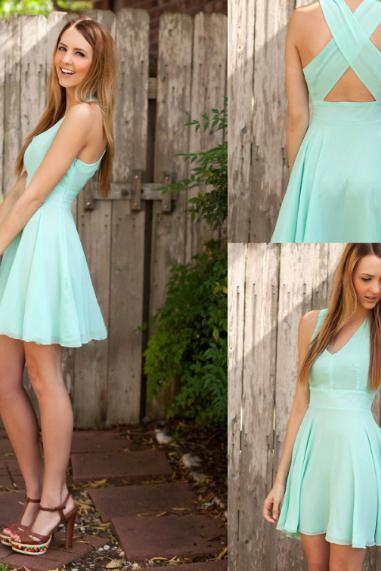 Mint bridesmaid dresses, short bridesmaid dresses, simple bridesmaid dresses, cheap bridesmaid dresses, bridesmaid dress, PD15044