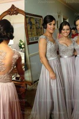 long bridesmaid dress, custom bridesmaid dress, cap sleeve bridesmaid dress, elegant bridesmaid dress, popular bridesmaid dress, bridesmaid dress, PD15052