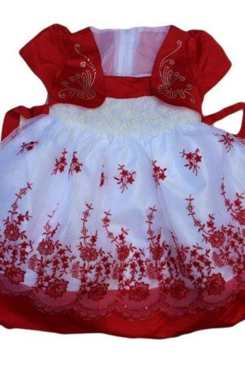 Red Dress for Girls 4T Girls Princess Red Dress with Corsage
