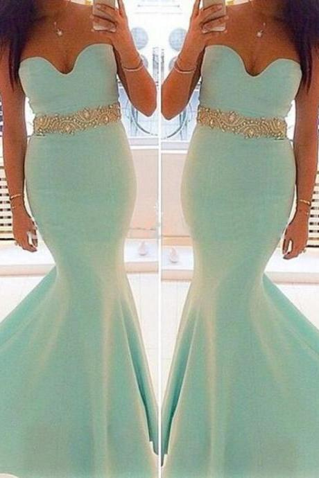 long prom dress, sweet heart prom dress, prom dress, blue prom dress, mermaid prom dress, party dress, handmade dress BD129