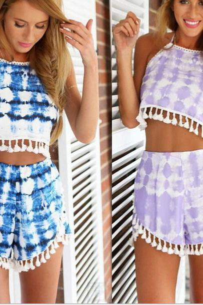 Tassel two piece set