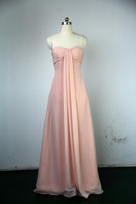 Long Modest Prom Dresses, Strapless Prom Dresses , Chiffon Bridesmaid Dresses, Backless Prom Dresses