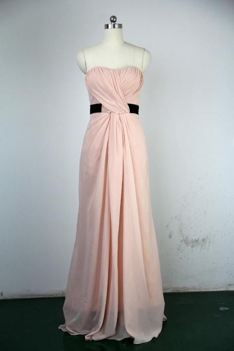 Unique Pink Bridesmaid Dresses , Strapless Bridesmaid Dresses, Long Bridesmaid Dresses, Formal Dresses, Wedding Party Dresses