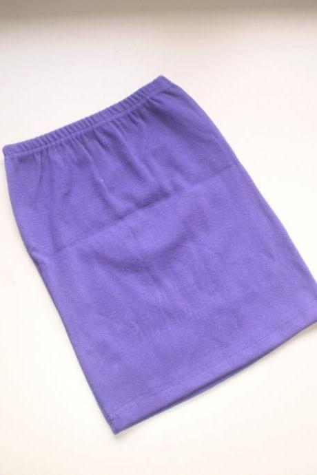Purple knit Bodycon mini Skirt