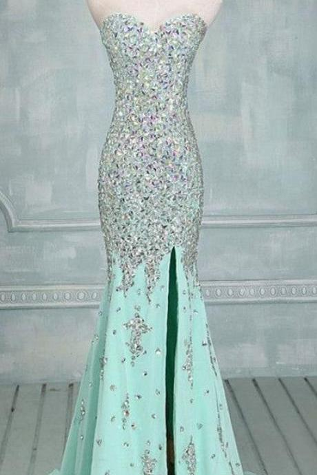 Pd 580 Charming Prom Dress,Sequined Prom Dress,Mermaid Prom Dress,Strapless prom Dress,Sexy Prom Dress