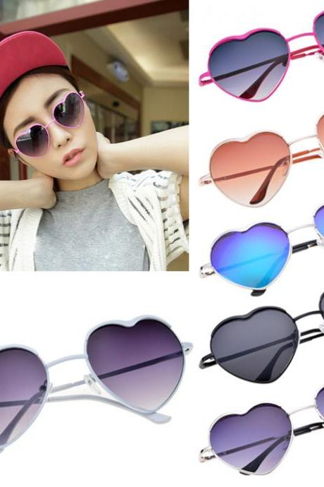 Unisex Heart Shaped Frame Sunglasses