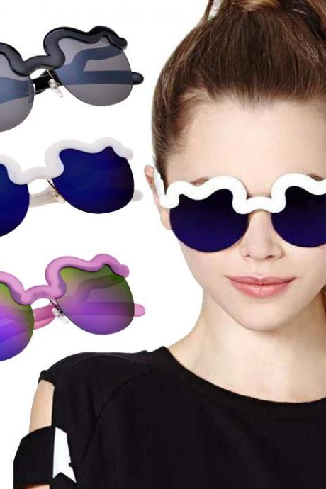 Cool Unisex Half Frame Sunglasses