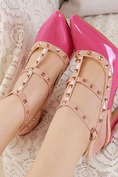 JOJO cat Crazy price+100% high quality 2015 New European Women's Valentine's revits vintage fashion pink high heels shoes woman plus size T-strap platform nude pumps sexy retro wedding party bridal evening casual shoes zapatos tacones 222-1