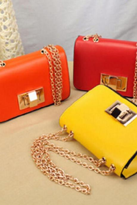 2015 in Europe and the us chain shoulder his mini bag PU bag 8 colors