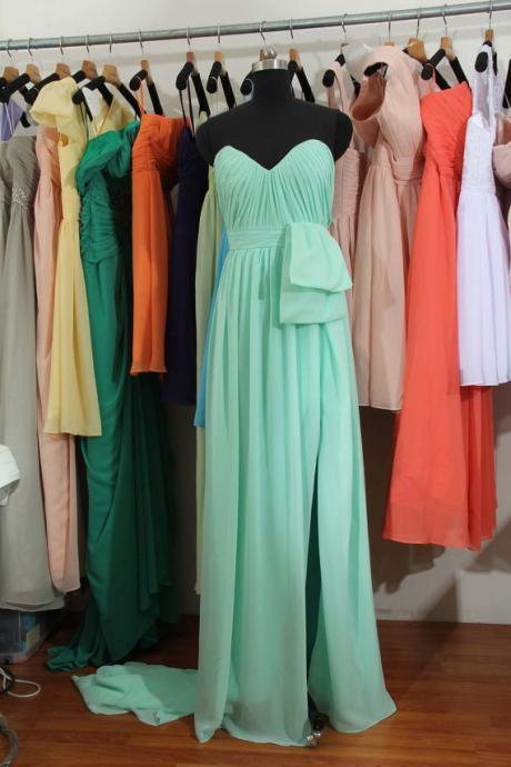 Mint Bridesmaid Dress, Custom bridesmaid dress, Long bridesmaid dress,Chiffon Bridesmaid Dress, Cheap Bridesmaid Dress, BD2709