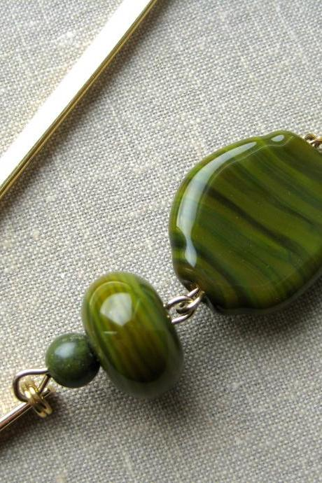 Olive green bookmark